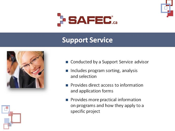 Support Service to organizations