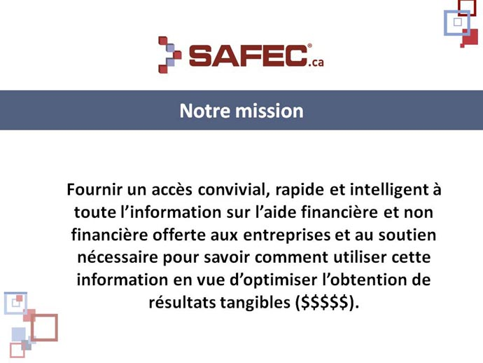 Mission de SAFEC